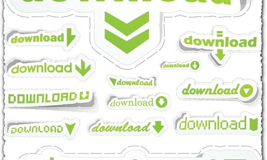 Download stickers vector
