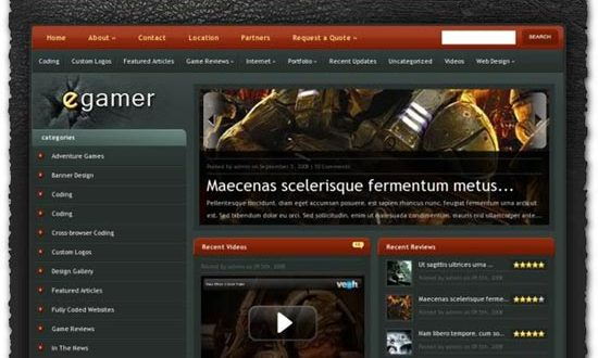 eGamer elegantthemes wordpress template
