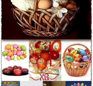 Easter basket eggs photos