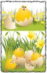 Easter chickens templates