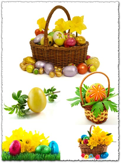 Easter eggs clippart stock images