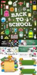 Education and school supplies vectors