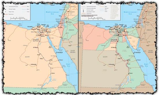 Egypt vector map