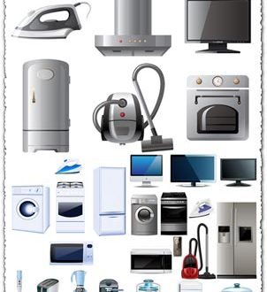 Electric household appliances vectors