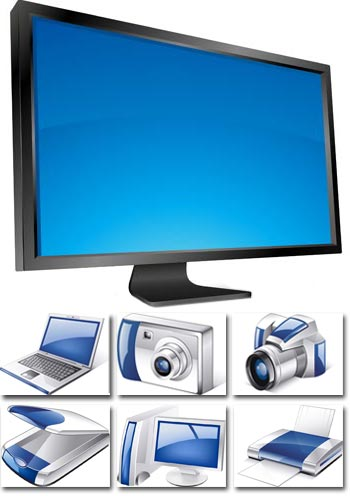 Electronic devices in vector format