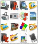 Electronics and windows folder icons