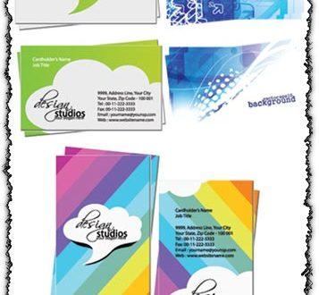 Elegant business cards set