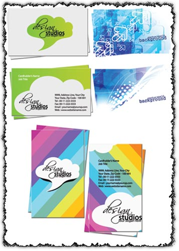 Elegant business cards set