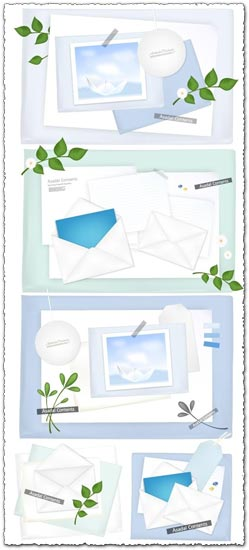 Envelope paper card models