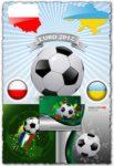Euro 2012 football vector cards