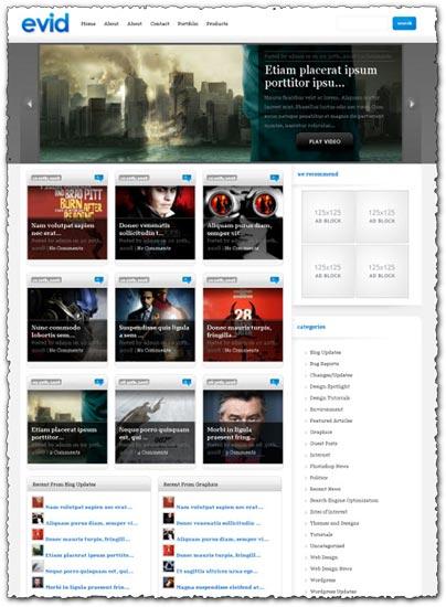 Evid elegantthemes WordPress theme
