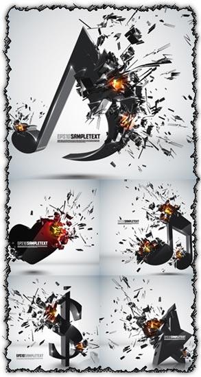 Exploding backgrounds vector design