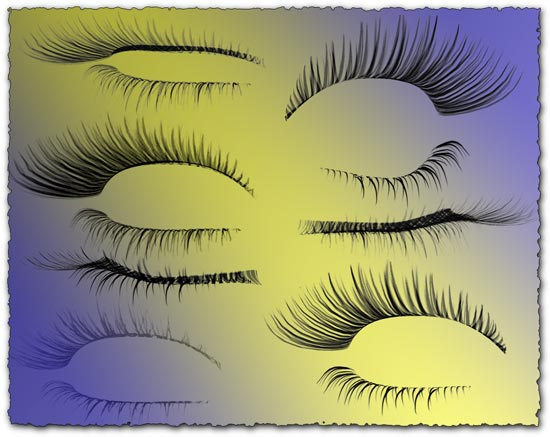 Eyelash photoshop template designs