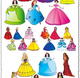 Fairy princesses cartoon vectors