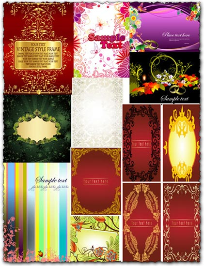 Vector banner background frames