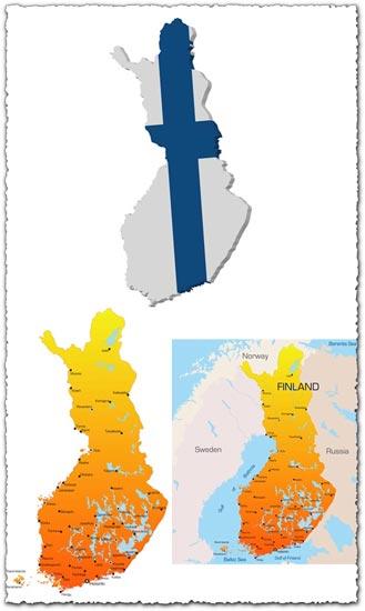 Finland vector map
