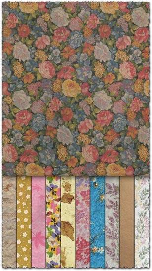 Floral paper texture images