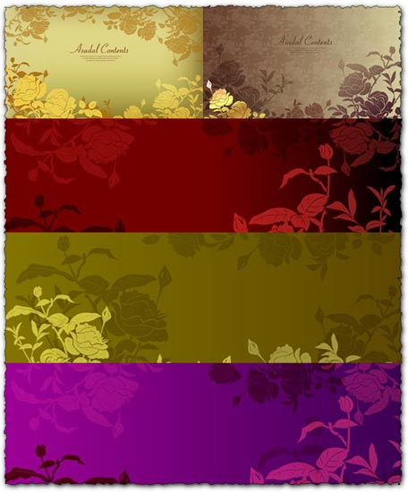 Asadal Flower Background Vector EPS