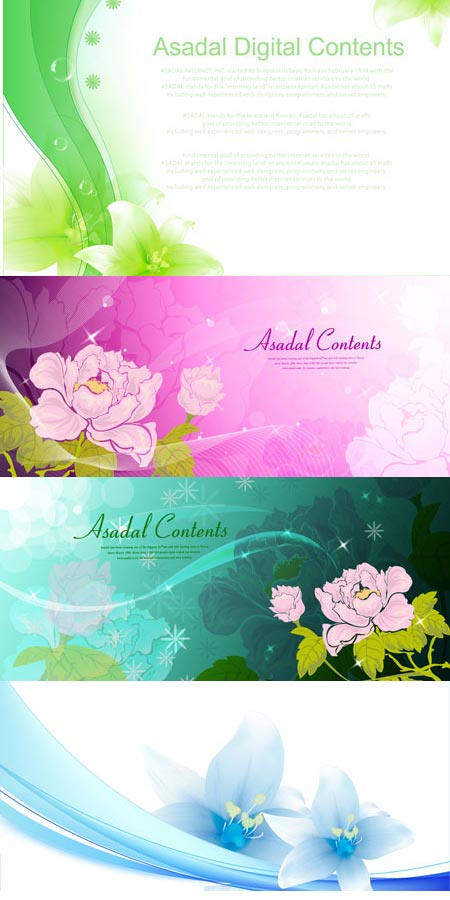 Flower banners design collection