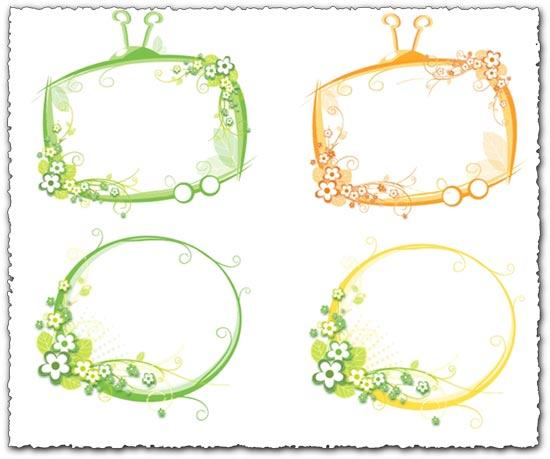 Nature vector frames design