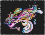 Flowing lines vector design