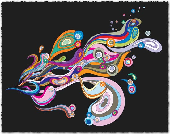Flowing lines vector design