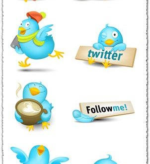 Follow me twitter buttons and icons