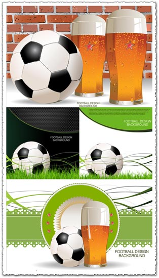 Football and beer vector posters