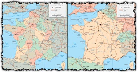 France vector maps