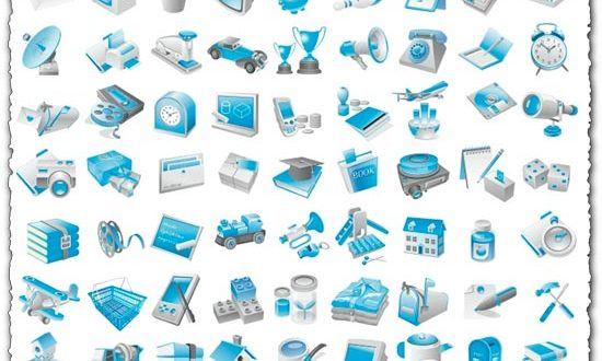 Free blue icon vectors
