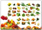 Photoshop fruit and vegetables PSD