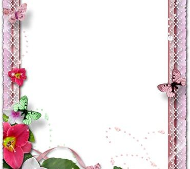 Gentle spring photo frame for photoshop