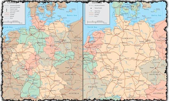 Germany vector maps