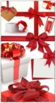 Gift boxes with red bows images