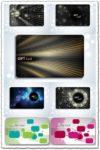 Gift cards vectors