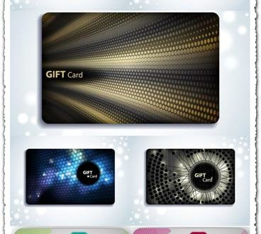 Gift cards vectors