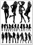 Girl silhouette vectors