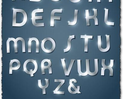 Glossy letters vectors