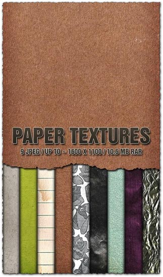 Paper textures collection