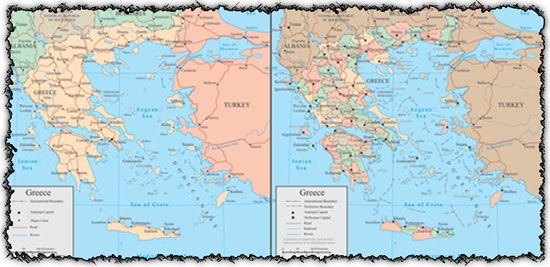 Greece vector maps