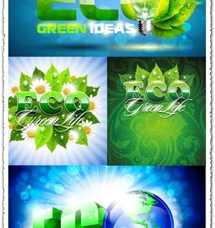 Green eco vector templates