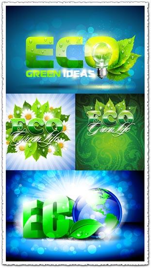 Green eco vector templates
