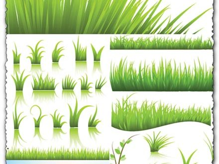 Green grass vector templates