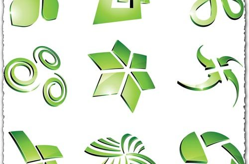 Green vector logo templates