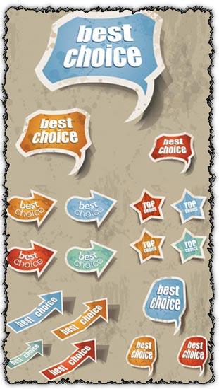 Grunge stickers vectors