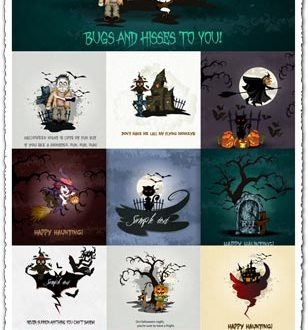 Hand-painted Halloween vectors