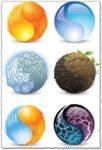 Harmony globes vectors