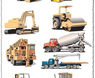 Heavy machines vector for Corel Draw