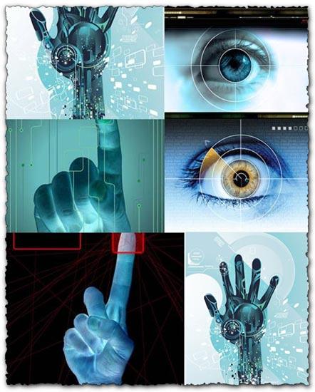 High-Tech Backgrounds eps