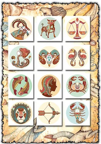 Horoscope signs vectors